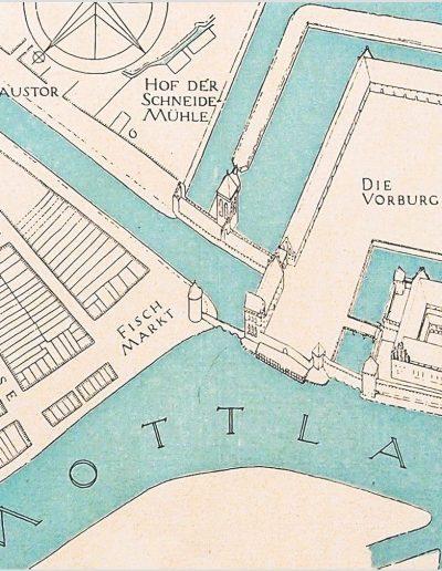 plan Gdańska z zamkiem krzyżackim